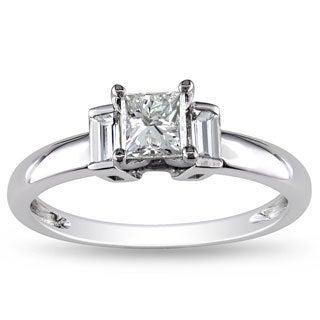 Miadora Signature Collection 14k White Gold 3/4ct TDW Diamond Ring (G-H, I1-I2)