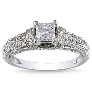 Miadora 14k White Gold 1ct TDW White Diamond Ring