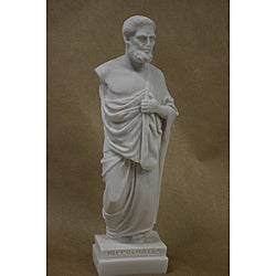 White Bonded Marble Museum Replica of Hippocrates