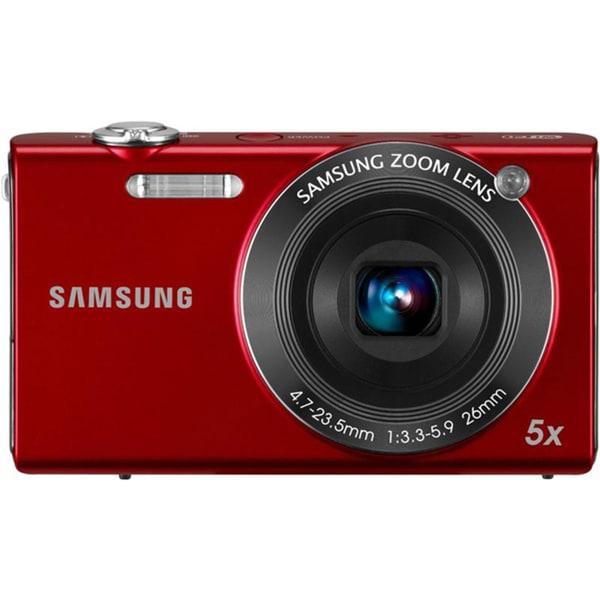 Samsung SH100 14.2 Megapixel Compact Camera - Red