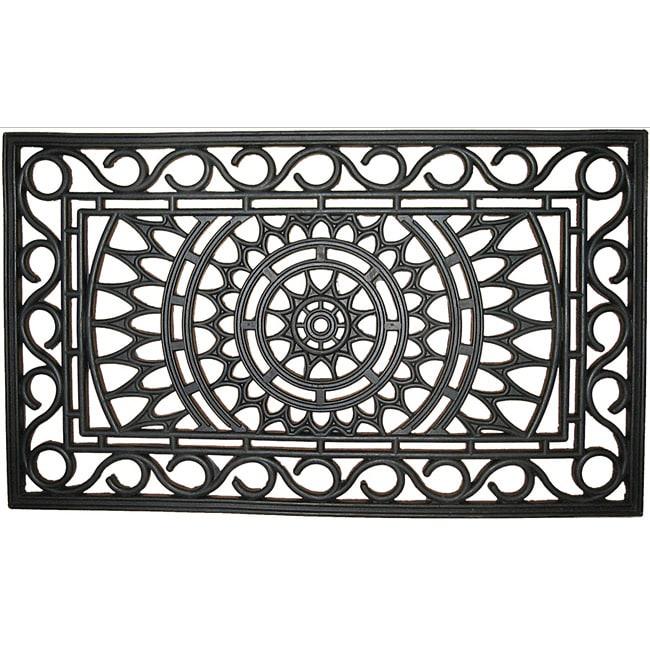 Sunburst Recycled Rubber Doormat (1'6 x 2'6)