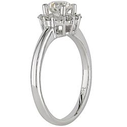 14K White Gold 1 CT TDW Diamond Ring (G-H, I2-I3)