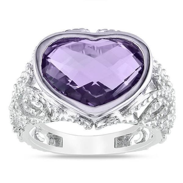 Miadora Sterling Silver 6 CT TGW Amethyst Cocktail Ring
