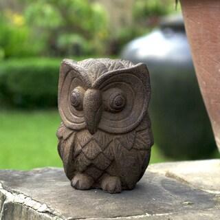 Handmade Stone Owl Statuette (Indonesia)