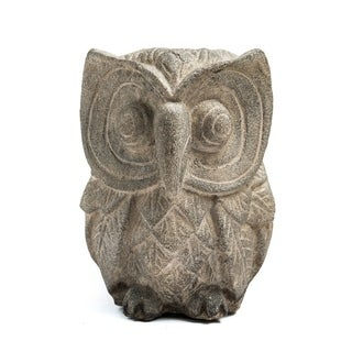 Handmade Stone Owl Statuette (Indonesia) (2 options available)