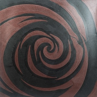 Handmade Acrylic on Canvas 'Dancing Rose' Painting (Indonesia)