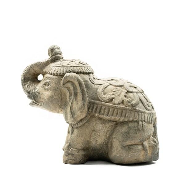 27355faaf998 Shop Handmade Stone Flamboyant Elephant Statue - On Sale - Free ...