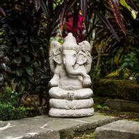 Handmade Large Stone Elephant Ganesha Statue