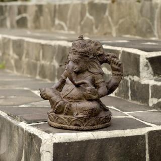 Small Stone Elephant Ganesha Statue (Indonesia)