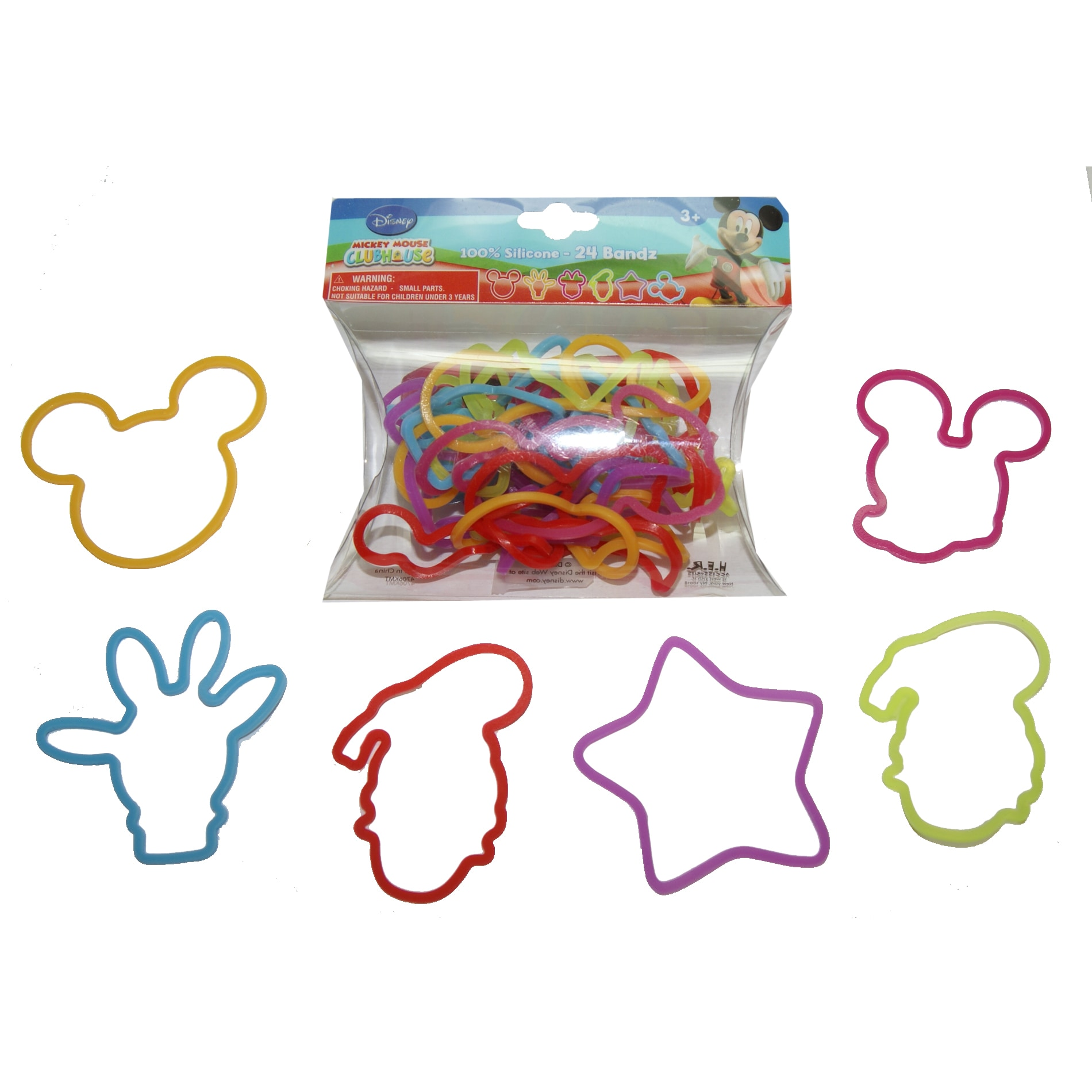Her Interactive Mickey Mouse Rubber Bracelet Bandz (1), B...