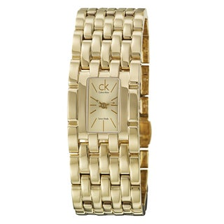 Calvin Klein Women's 'Braid' Yellow Goldplated Stainless Steel Quartz Watch