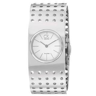 Calvin Klein Women's 'Grid' Stainless Steel Quartz Water-Resistant Watch