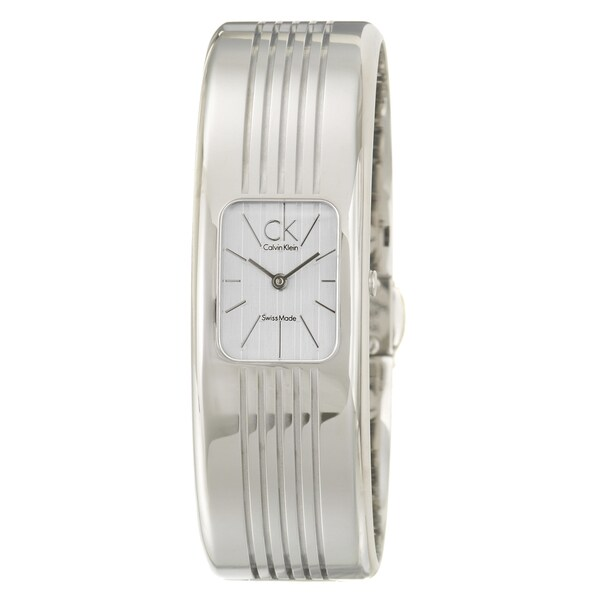 Calvin Klein Women's 'Fractal' Stainless-Steel Swiss-Quartz Watch