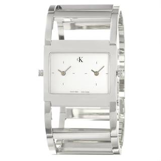 Calvin Klein Women's 'Dress' Stainless Steel Dual Time Zone Quartz Watch