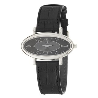 Calvin Klein Women's Classic 'Course' Stainless-Steel and Leather Quartz Watch