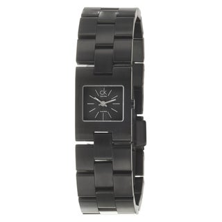 Calvin Klein Women's 'Kalalis' Black PVD-Coated Stainless Steel Quartz Watch