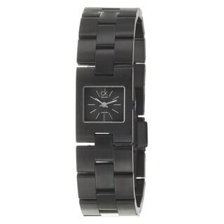 Calvin Klein Women's 'Kalalis' Black PVD-Coated Stainless Steel Quartz Watch