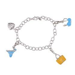 Sterling Silver Beach Charm Bracelet