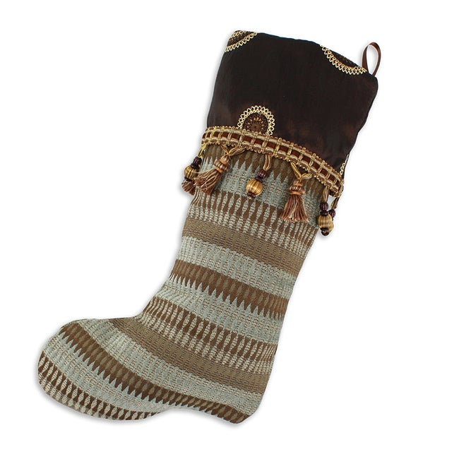 Azula Storm-toronto Bronze Lined Trimmed Holiday Stocking