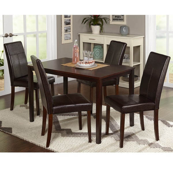 Dining Room Accent Pieces: Shop Simple Living Bettega Parson 5-piece Dining Set