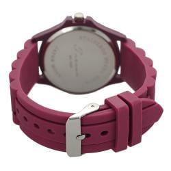 Geneva Platinum Women's Rhinestone-accented Moisture-resistant Silicone Watch