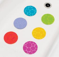 Munchkin Grippy Dots Non-slip Bath Toy (Pack of 6) - Thumbnail 1