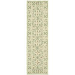 Nourison Hand Hooked Green Country Heritage Rug ( 2'3 x 8'0 )
