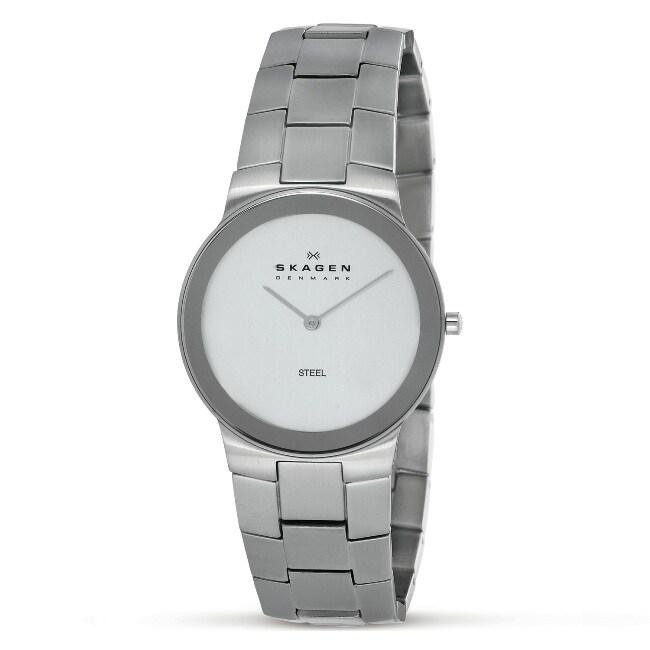 Skagen Men's White Face Bracelet Watch