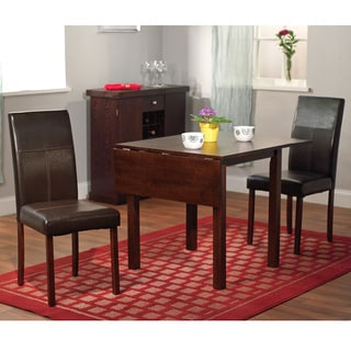 simple living bettega drop leaf 3 piece dining set. beautiful ideas. Home Design Ideas