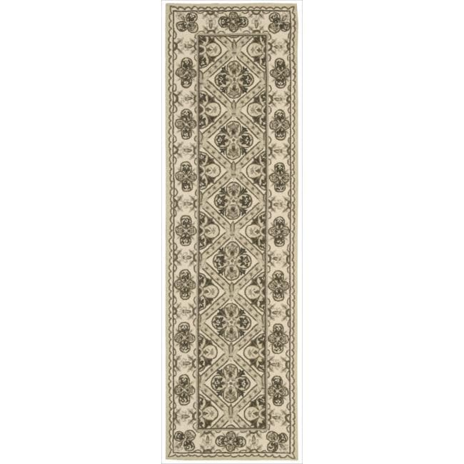 Nourison Hand Hooked Brown Country Heritage Rug ( 2'3 x 8'0 )