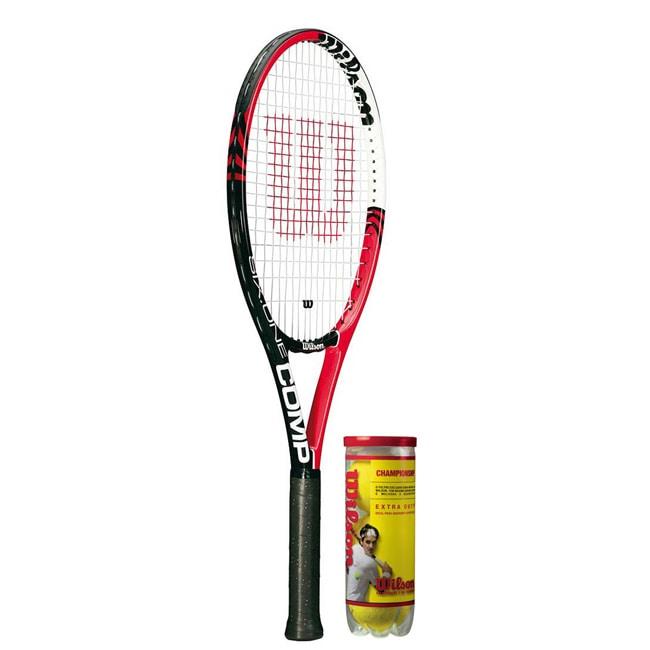 Wilson Six One Comp Tennis Racquet & Balls