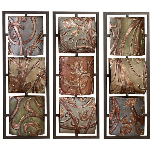 Antique Cream Wood Metal Wall Decor: Shop Casa Cortes Sienna Vines Metal Wall Art Decor