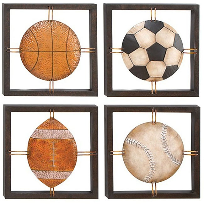 Sports Wall Decor all american sports decor metal wall art - free shipping today