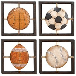 All American Sports Decor Metal Wall Art