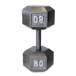 CAP Barbell 80-pound Cast Iron Hex Dumbbell