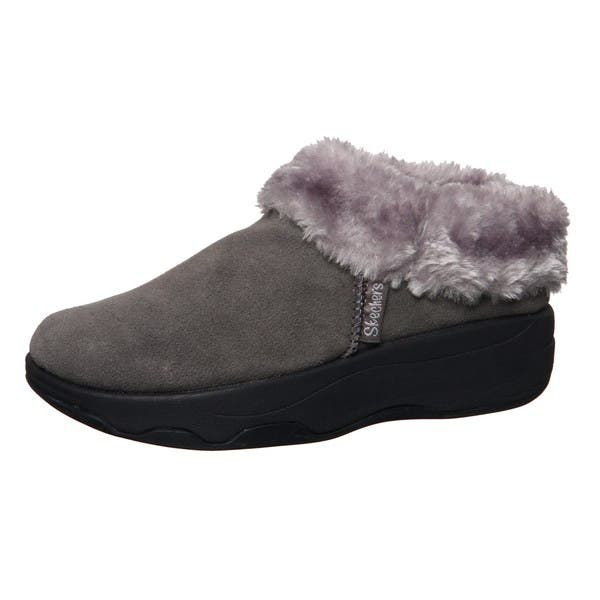 limited sale on wholesale hoard as a rare commodity Shop Skechers USA Women's 'Spindrift' Tone-ups Suede Clogs ...