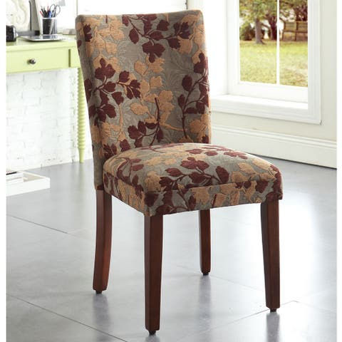HomePop Classic Sage Leaf Pattern Fabric Dining Chair - N/A