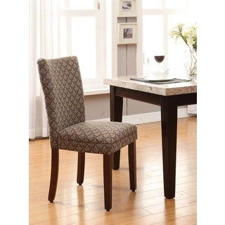 Link to HomePop Modern Parson Blue/ Chocolate Damask Diamo Similar Items in Dining Room & Bar Furniture