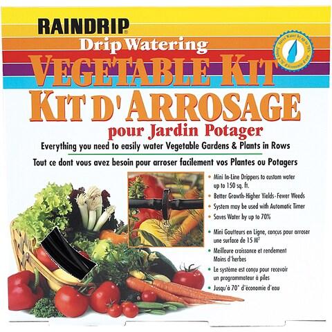 Raindrip Drip Watering Vegetable Garden Kit with Anti Syphon
