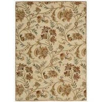 Nourison Hand-tufted Firenze Ivory Rug (7'6 x 9'6)