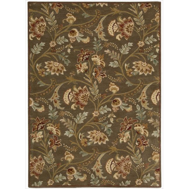Nourison Hand-tufted Firenze Brown Rug (8' x 11')