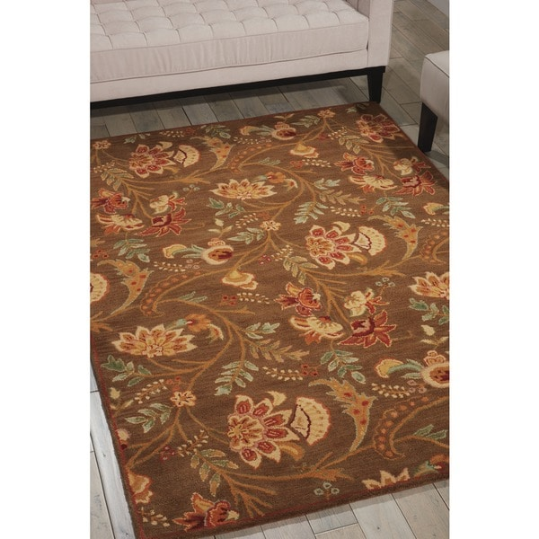 Nourison Hand-tufted Firenze Brown Rug (7'6 x 9'6)