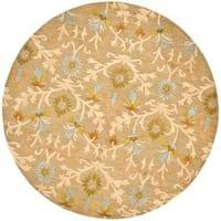 Safavieh Handmade Moroccan Cambridge Paradise Moss Green Wool Rug - 4' x 4' Round