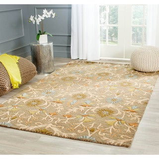 Safavieh Handmade Moroccan Cambridge Paradise Moss Green Wool Rug (8' Square)