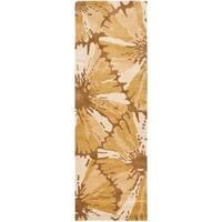 "Safavieh Handmade New Zealand Wool Floral Brown Rug - 2'6"" x 8'"