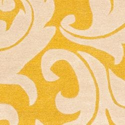 Safavieh Handmade Soho Gold/ Ivory New Zealand Wool Rug (6' x 9') - Thumbnail 2