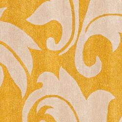 Safavieh Handmade Soho Gold/ Ivory New Zealand Wool Rug (8' Square) - Thumbnail 2