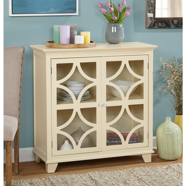 Simple Living Sydney Ivory Cabinet - N/A