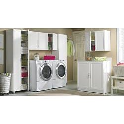 akadaHOME Multipurpose Laundry Single Door Storage Cabinet - Thumbnail 2