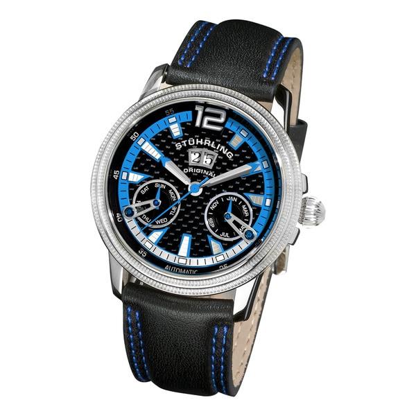 Stuhrling Original Men's Saturnalia GTS Automatic Mechanical Chronograph Watch